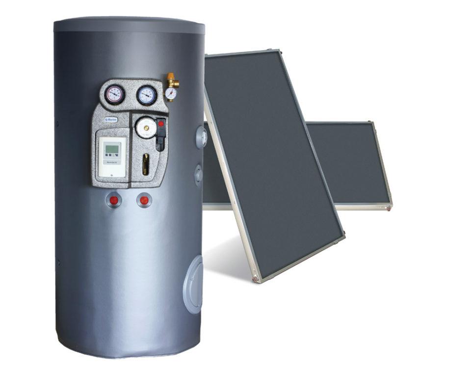 aqua sun kit solare per produzione di acqua calda sanitaria