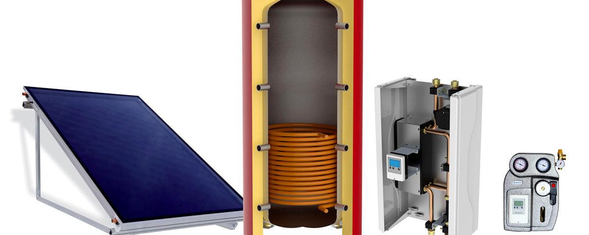 combi sun kit solare per riscaldamento e produzione istantanea ACS
