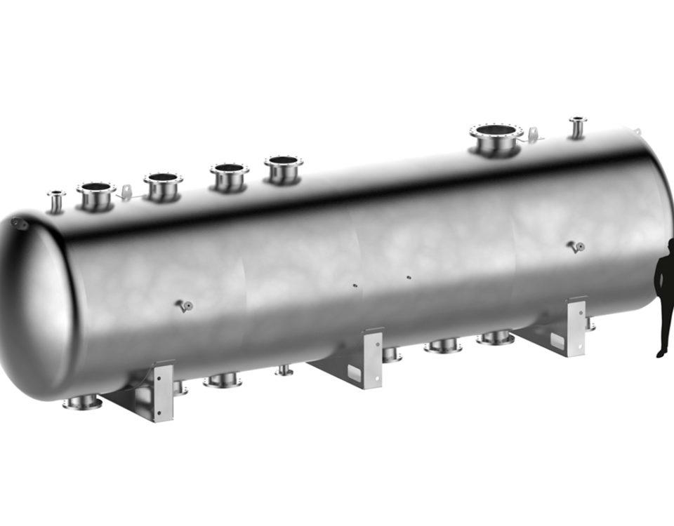 serbatoi di grandi dimensioni su misura per installazioni esterne e interrate