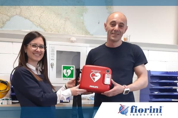 fiorini introduce un defibrillatore in azienda