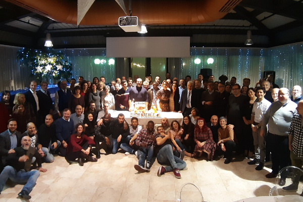 fiorini's employees at christmas dinner