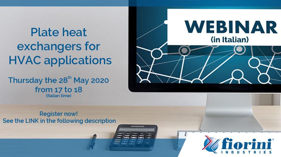 Webinar Plate heat exchangers for HVAC applications